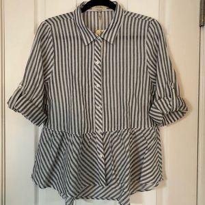 Button Peplum Shirt